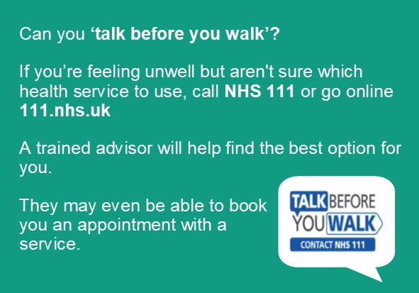 Talk before you walk